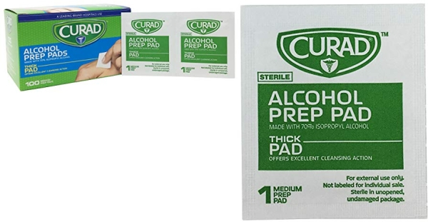 Purchase Curad Alcohol Prep Pads, Thick Alcohol Swabs (Pack of 400) on Amazon.com