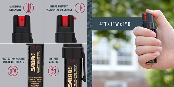 Purchase SABRE Advanced Compact Pepper Spray with Clip  3-in-1 Formula on Amazon.com