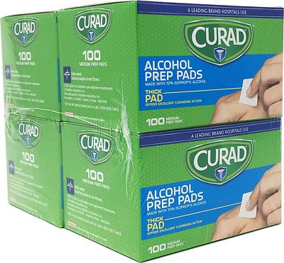 Purchase Curad Alcohol Prep Pads, Thick Alcohol Swabs (Pack of 400) at Amazon.com