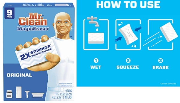 Purchase Mr Clean Magic Eraser Original, Cleaning Pads with Durafoam, 9 Count on Amazon.com