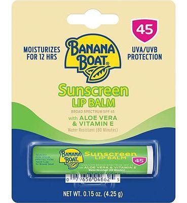 Purchase Banana Boat Aloe Vera Lip Protection Sunscreen, 0.15 Ounce at Amazon.com