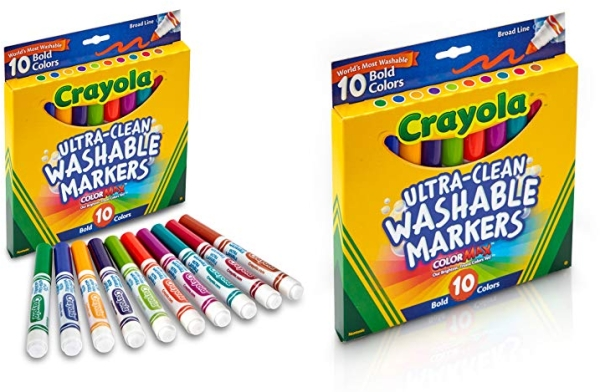 Purchase Crayola Ultraclean Broadline Bold Markers (10 Count) on Amazon.com