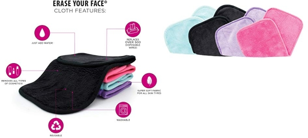Purchase Make-up Removing Cloths 4 Count, Erase Your Face on Amazon.com