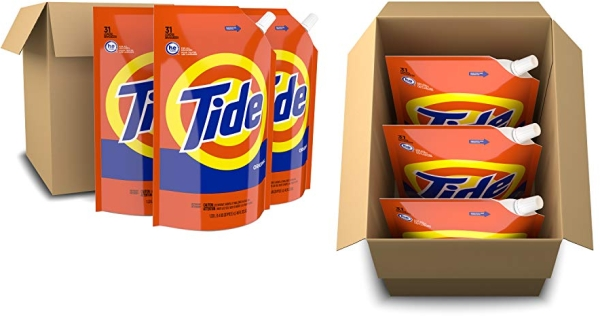 Purchase Tide Liquid Laundry Detergent Soap Pouches, High Efficiency (HE), Original Scent, 93 Total Loads (Pack of 3) on Amazon.com