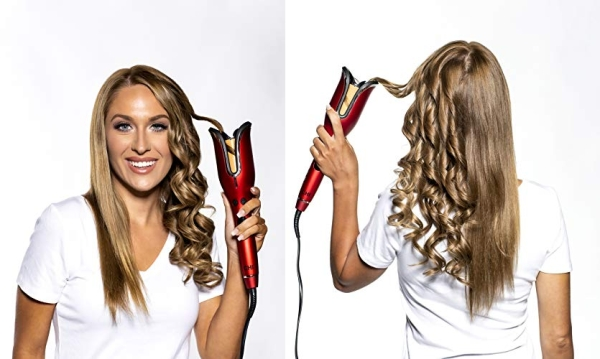 Purchase CHI Spin N Curl Ceramic Rotating Curler, Ruby Red on Amazon.com