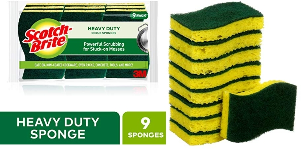 Purchase Scotch-Brite Heavy Duty Scrub Sponges, 9 Scrub Sponges, Stands Up to Stuck-on Grime on Amazon.com