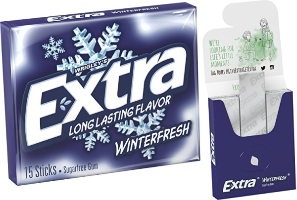 Purchase EXTRA Winterfresh Chewing Gum, 15 Pieces (10 Pack) on Amazon.com