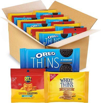 Purchase NABISCO, OREO Thins Chocolate Sandwich Cookies, RITZ Cheddar Flavor Cheese Crispers Chips and Wheat Thins Crackers Variety Pack, Snack Packs,, Cheddar/Cheese/Chocolate, 48 Count at Amazon.com