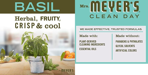 Purchase Mrs. Meyers Clean Day Multi-Surface Everyday Cleaner, Basil Scent, 16 ounce bottle (Pack of 3) on Amazon.com