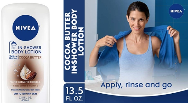 Purchase NIVEA Cocoa Butter In-Shower Body Lotion - Non-Sticky For Dry to Very Dry Skin - 13.5 oz. Bottle on Amazon.com