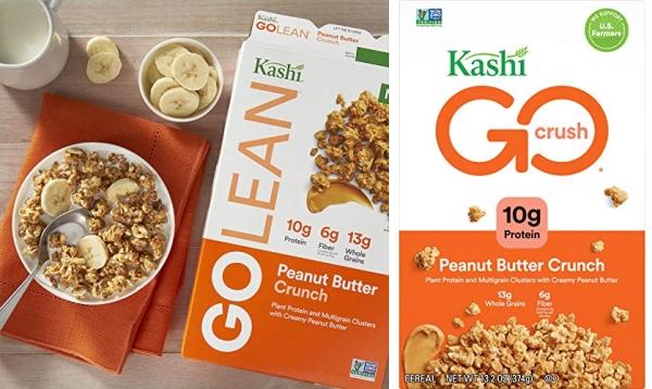 Purchase Kashi GO Peanut Butter Crunch Cereal - Vegan, Non-GMO, 13.2 Ounce on Amazon.com