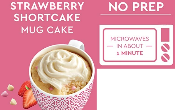Purchase Duncan Hines Mug Cakes Strawberry Shortcake Flavored Mix with Cream Cheese Frosting, 13.3 OZ on Amazon.com
