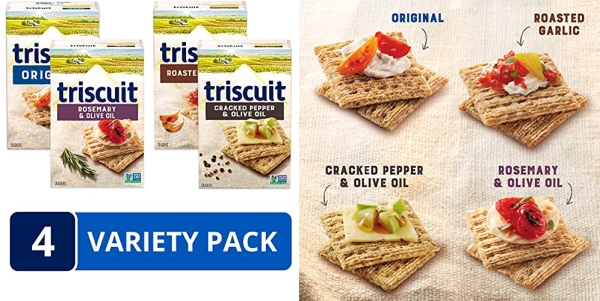 Purchase Triscuit Whole Grain Crackers 4 Flavor Variety Pack, Regular Size, 4 Boxes on Amazon.com