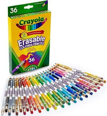 Purchase Crayola Erasable Colored Pencils, 36 Count, Art Tools, Ages 4, 5, 6, 7 at Amazon.com