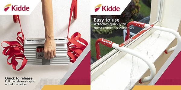 Purchase Kidde 468093 KL-2S Two-Story Fire Escape Ladder with Anti-Slip Rungs, 13-Foot on Amazon.com
