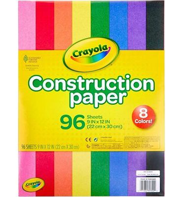 Purchase Crayola Construction Paper, School Supplies, 96 ct Assorted Colors, 9