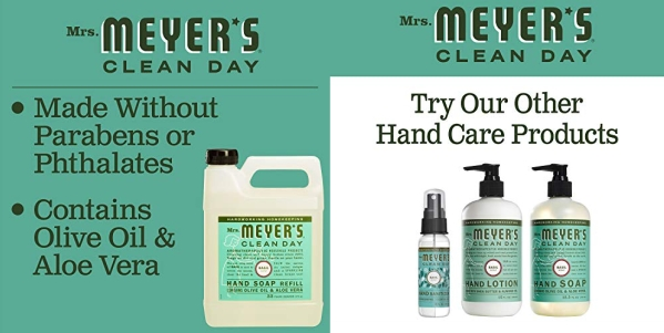 Purchase Mrs. Meyer's - Liquid Hand Soap Refill, Basil - 33 Ounce on Amazon.com