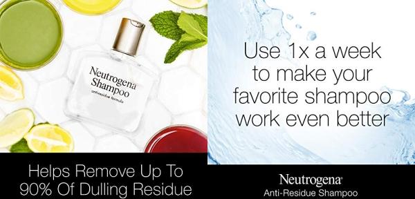 Purchase Neutrogena Anti-Residue Clarifying Shampoo, Gentle Non-Irritating Clarifying Shampoo to Remove Hair Build-Up & Residue, 6 fl. oz on Amazon.com