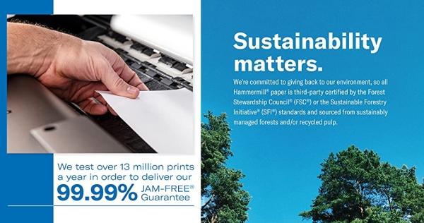 Purchase Hammermill 20lb Copy Paper, 8.5 x 11, 1 Ream, 500 Total Sheets, Multipurpose Printer Paper on Amazon.com