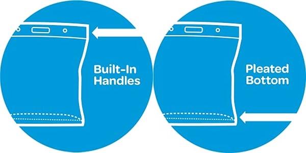 Purchase Ziploc Storage Bags, Double Zipper Seal & Expandable Bottom, XL, 4 Count, Big Bag on Amazon.com