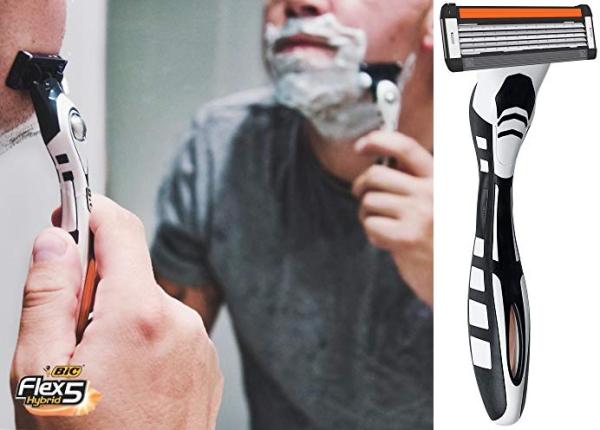 Purchase BIC Flex 5 Hybrid Men's 5-Blade Disposable Razor, 1 Handle and 6 Cartridges on Amazon.com
