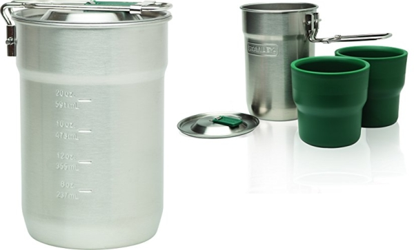 Purchase Stanley Adventure Camp Cook Set - 24oz Kettle with 2 Cups - Stainless Steel Camping Cookware on Amazon.com