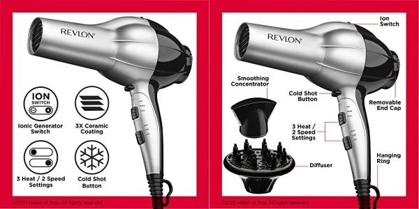 Purchase Revlon 1875W Shine Boosting Hair Dryer on Amazon.com