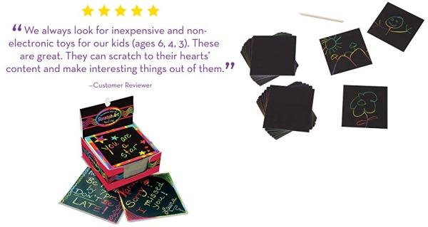 Purchase Melissa & Doug Scratch Art Box of Rainbow Mini Notes on Amazon.com