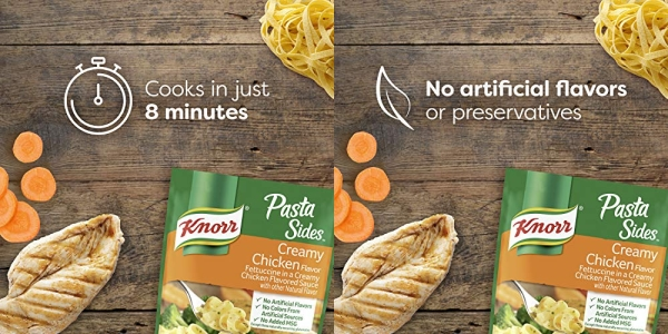 Purchase Knorr Pasta Sides For a Delicious Easy Pasta Meal Creamy Chicken No Artificial Flavors, No Colors from Artificial Sources, No Added MSG 4.2 oz, Pack of 8 on Amazon.com