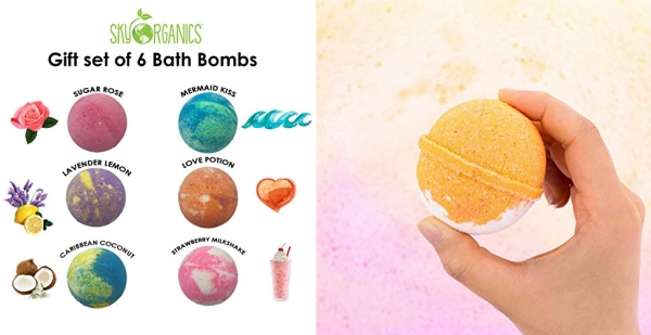 Purchase Bath Bombs Gift Set, 6 x 5 Oz Huge Bath Bombs Kit, Best for Aromatherapy, Relaxation, Moisturizing with Natural Essential Oils -Handmade Natural Spa Fizzies on Amazon.com