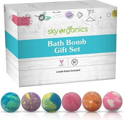 Purchase Bath Bombs Gift Set, 6 x 5 Oz Huge Bath Bombs Kit, Best for Aromatherapy, Relaxation, Moisturizing with Natural Essential Oils -Handmade Natural Spa Fizzies at Amazon.com
