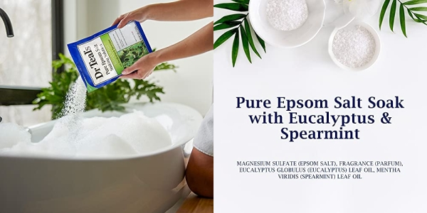 Purchase Dr Teal's Epsom Salt Soaking Solution, Relax & Relief, Eucalyptus and Spearmint, 3lbs on Amazon.com