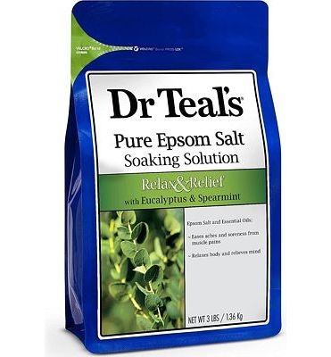 Purchase Dr Teal's Epsom Salt Soaking Solution, Relax & Relief, Eucalyptus and Spearmint, 3lbs at Amazon.com
