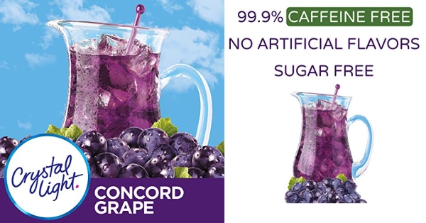 Purchase Crystal Light Concord Grape Drink Mix (6 Pitcher Packets) on Amazon.com