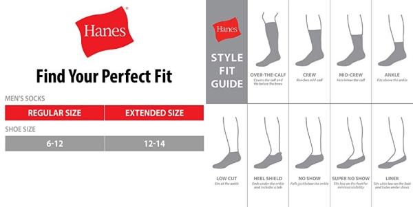 Purchase Hanes Men's ComfortBlend Max Cushion Crew Socks 6-Pack, Black Shoe Size: 6-12 on Amazon.com