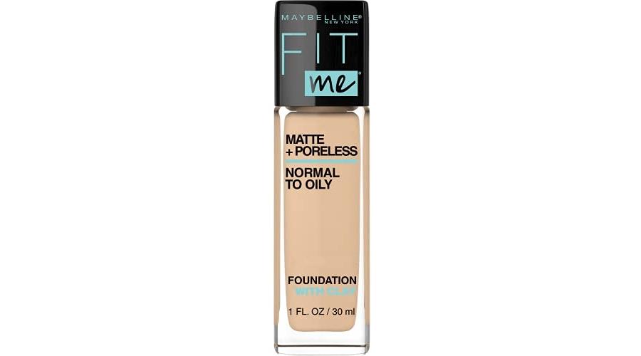 Purchase Maybelline Fit Me Matte + Poreless Liquid Foundation Makeup, Natural Beige, 1 fl; oz; Oil-Free Foundation at Amazon.com