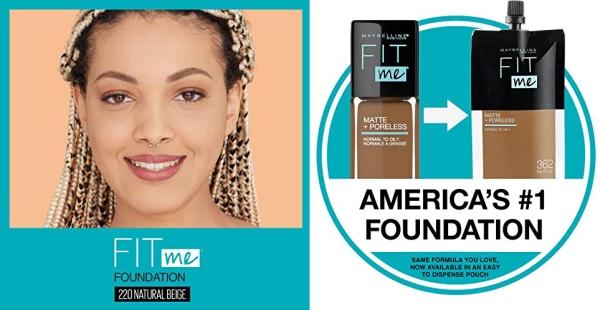 Purchase Maybelline Fit Me Matte + Poreless Liquid Foundation Makeup, Natural Beige, 1 fl; oz; Oil-Free Foundation on Amazon.com