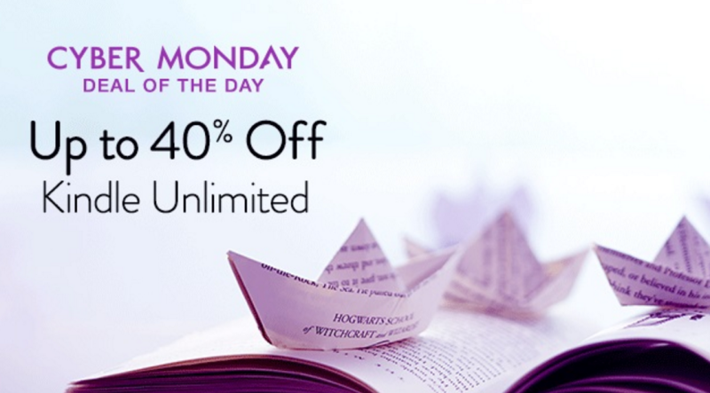 Amazon Cyber Monday: Kindle Unlimited 40% Off!