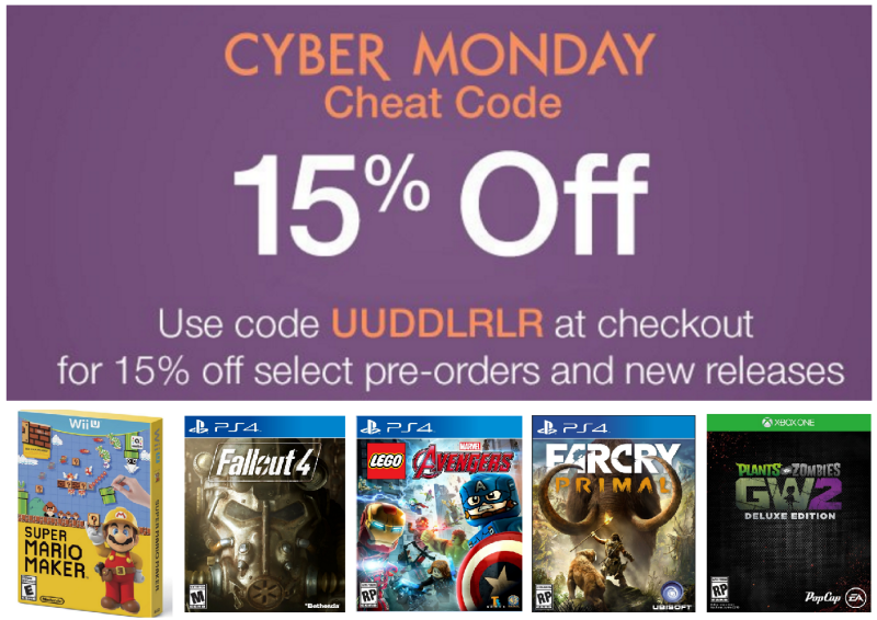 Amazon Cyber Monday: Extra 15% Off Select Pre-Order & New Release Games (Today Only)