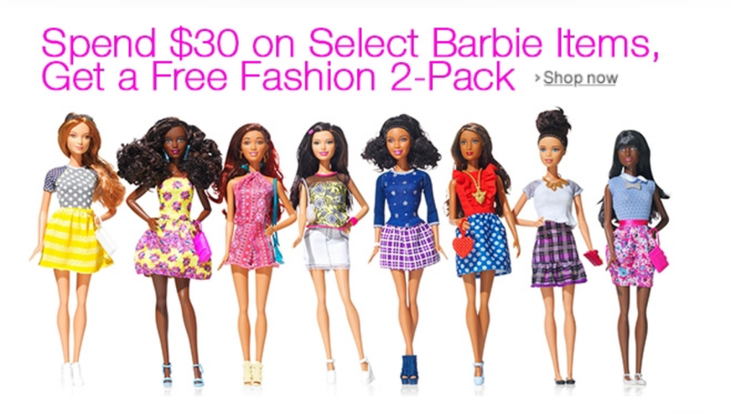 *HOT* Spend $30 or more on select Barbie Items, get a free Barbie Fashions 2-Pack!