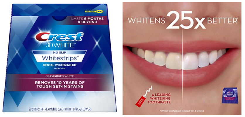Crest 3d White Glamorous White Whitestrips Dental Teeth Whitening
