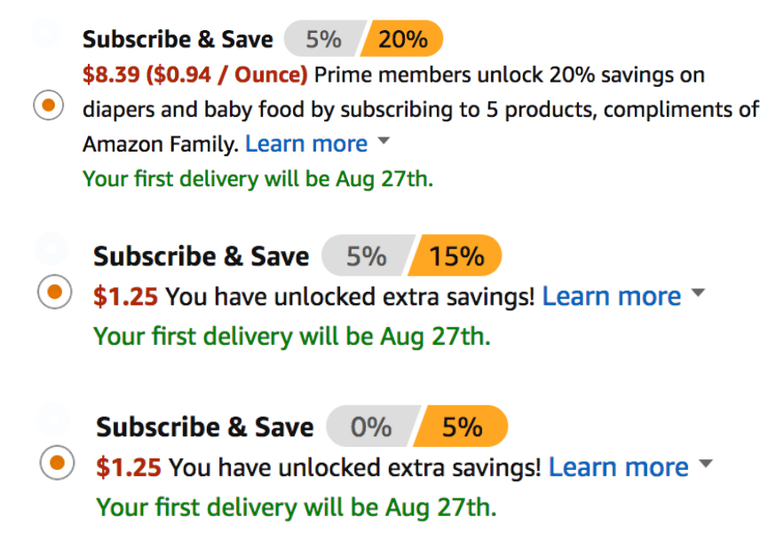 Amazon's BEST Subscribe & Save Deals