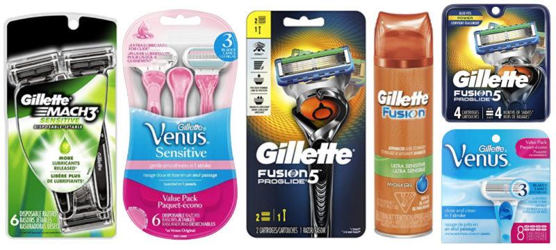 NEW Coupon Codes = Excellent Deals on Gillette & Gillette Venus Products!