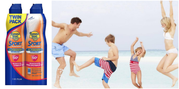 *HOT* Banana Boat Sport Sunscreen Spray, SPF 50, Reef Safe, 6 ounces (Pack of 2) as low as $9.35 (reg. $18.99)